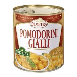 POMODORINI GIALLI MID DRY semisecchi olio girasole 4/4 GR 750 DEMETRA