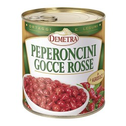 PEPERONCINI GOCCE ROSSE agrodolce 4/4 GR 790 DEMETRA
