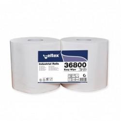ROTOLO ASCIUGATUTTO Easy Wipe 2veli 800strappi 100%cell CELTEX (2 ROTOLI)