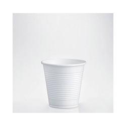 BICCHIERE PLASTICA BIANCA 80cc CAFFÈ 100 PZ