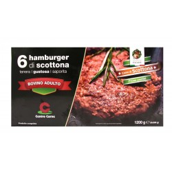 HAMBURGER (6pz da 200 gr) hamburger BOV GELO SCOTTONA TOP QUALITY 1,2 KG