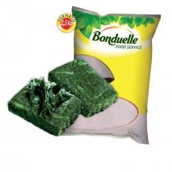 SPINACI FOGLIA piastra 1/5 KG 2,5 BONDUELLE