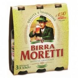 BIRRA MORETTI BOTTIGLIA CLUSTER cl 0.33x3x8